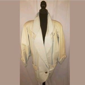 Womens Vintage G III Coat Made USA Genuine Leather